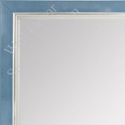 MR1560-3 Pearlized Blue With Silver Lip - Small Custom Wall Mirror Custom Floor Mirror