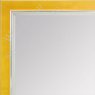 MR1560-5 Pearlized Mustard With Silver Lip - Small Custom Wall Mirror Custom Floor Mirror