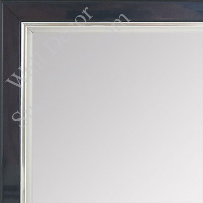 MR1560-6 Pearlized Navy Blue With Silver Lip - Small Custom Wall Mirror Custom Floor Mirror