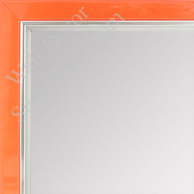 MR1560-7 Pearlized Orange With Silver Lip - Small Custom Wall Mirror Custom Floor Mirror