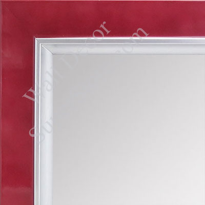 MR1561-1 Pearlized Red With Silver Lip - Medium  Custom Wall Mirror Custom Floor Mirror