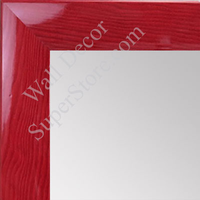 MR1563-5 Gloss Lacquer Red Wood Grain Medium Custom Wall Mirror -  Custom Bathroom Mirror