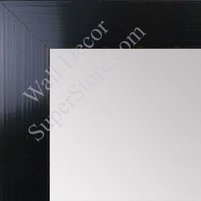 MR1565-3 Glossy Distressed Black - Medium Custom Wall Mirror -  Custom Bathroom Mirror