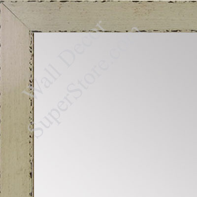 MR1566-1 Glossy Distressed Ivory - Small Custom Wall Mirror Custom Floor Mirror