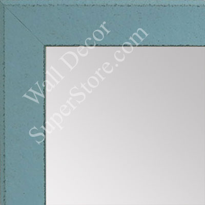 MR1570-11 Distressed Aqua Blue - Medium Custom Wall Mirror Custom Floor Mirror