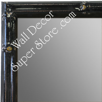 MR1612-1   Black Enamel Bamboo Custom Mirror