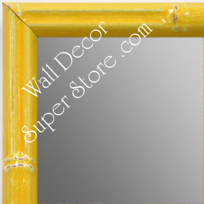 MR1612-4   Yellow Enamel Bamboo Custom Mirror