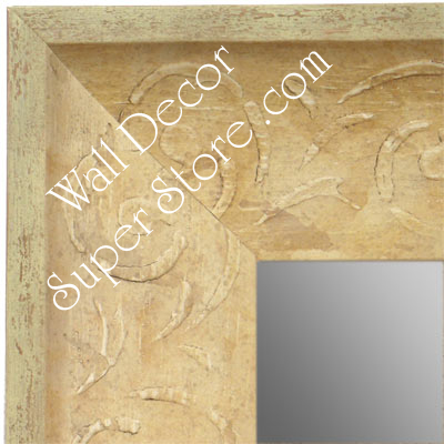 MR1613-4  Distressed Ivory Custom Wall Mirror