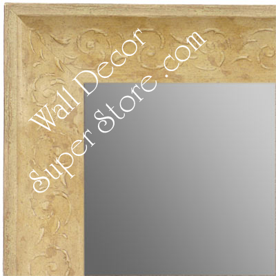 MR1614-4  Distressed Ivory Custom Wall Mirror