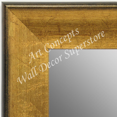 MR1663-1 | Crackle Gold / Black | Custom Wall Mirror