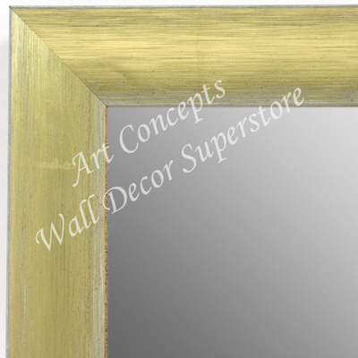 MR1687-1 | Brushed Gold with White | Custom Wall Mirror