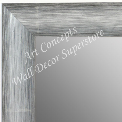 MR1687-2 | Brushed Silver with Black | Custom Wall Mirror