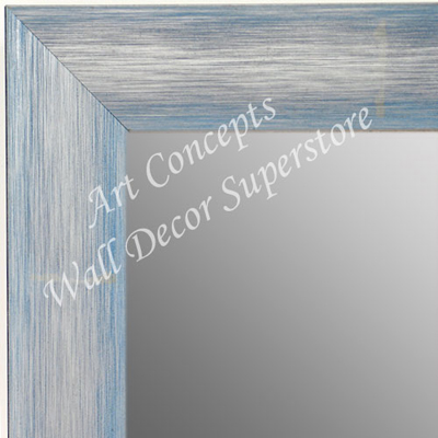 MR1687-4 | Brushed Silver with Blue | Custom Wall Mirror
