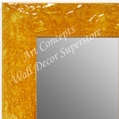 MR1692-6 | Glossy Mustard / Design | Custom Wall Mirror | Decorative Framed Mirrors | Wall D�cor
