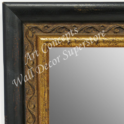 Mr1697 1 Espresso Black With Distressed Aged Gold Large
