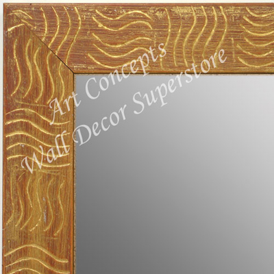 MR1702-4 | Gold / Design | Custom Wall Mirror | Decorative Framed Mirrors | Wall D�cor