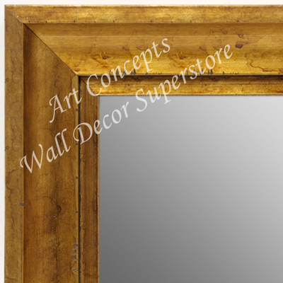 MR1707-3 | Distressed Gold Scoop Moulding | Custom Wall Mirror | Decorative Framed Mirrors | Wall D�cor
