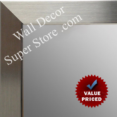 MR1708-1 | Stainless Steel Look - Mica Finish - Moulding | Custom Wall Mirror | Decorative Framed Mirrors | Wall D�cor