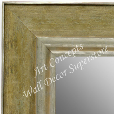 MR1719-2 | Distressed Green / Silver | Custom Wall Mirror | Decorative Framed Mirrors | Wall D�cor
