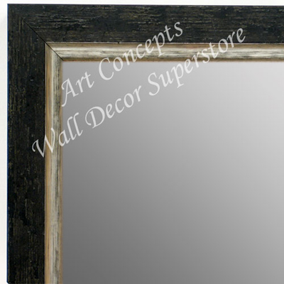 MR1720-1 | Distressed Black / Silver | Custom Wall Mirror | Decorative Framed Mirrors | Wall D�cor