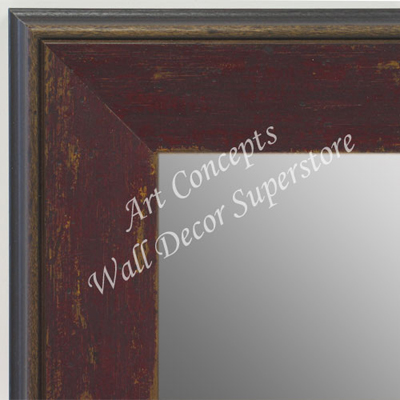 MR1734-3 | Distressed Brick Red | Custom Wall Mirror | Decorative Framed Mirrors | Wall D�cor