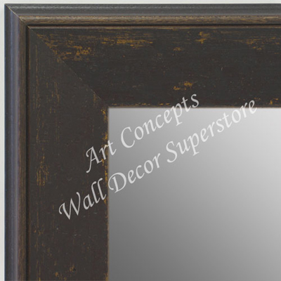 MR1734-5 | Distressed Saddle Brown | Custom Wall Mirror | Decorative Framed Mirrors | Wall D�cor