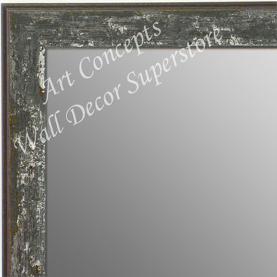 MR1735-6 | Distressed Gray | Custom Wall Mirror | Decorative Framed Mirrors | Wall D�cor