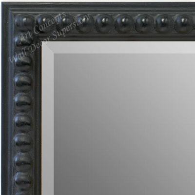 MR1747-2 | Distressed Black Beads | Custom Wall Mirror | Decorative Framed Mirrors | Wall D�cor