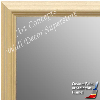 MR1752-1 | Unfinished Wood Frame | Unfinished Natural Wood Moulding - Paint or Stain | Custom Wall Mirror