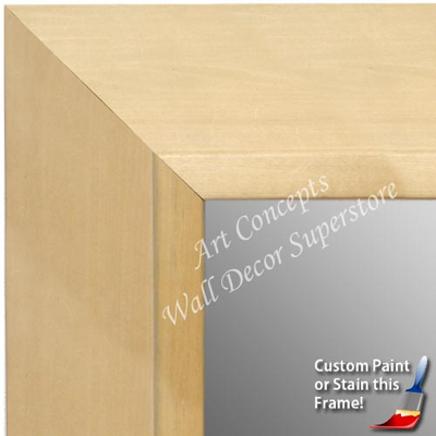 MR1755-1 | Unfinished Wood Frame | Unfinished Natural Wood Moulding - Paint or Stain | Custom Wall Mirror