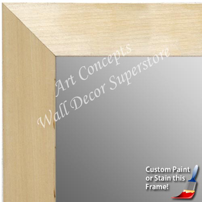 MR1763-1 | Unfinished Wood Frame | Unfinished Natural Wood Moulding - Paint or Stain | Custom Wall Mirror