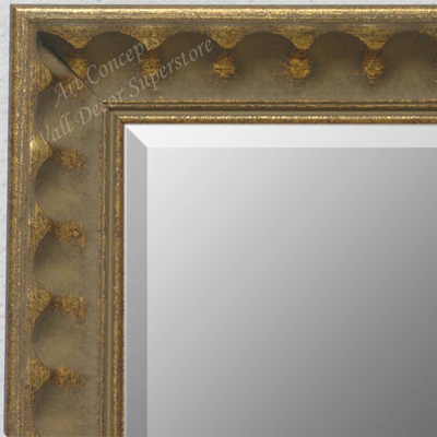 MR1780-2 | Distressed Gold / Design | Custom Wall Mirror | Decorative Framed Mirrors | Wall D�cor