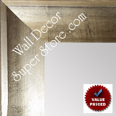 MR1858-2 Distressed Silver Leaf - Shallow French Scoop - Value Priced - - Large Custom Wall Mirror Custom Floor Mirror
