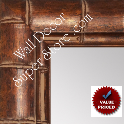 MR1867-1 Bronze Tropical Bamboo - Value Priced Large Custom Wall Mirror Custom Floor Mirror