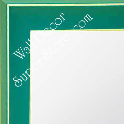 MR210-2 Turquoise Green - Small Custom Wall Mirror