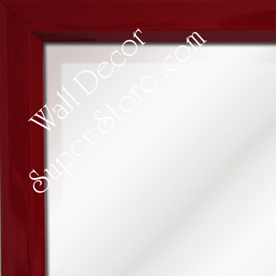 MR311-3 High Gloss Red Lacquer - Very Small Custom Wall Mirror