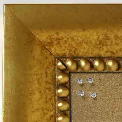BB5203-3 Distressed Gold Medium To Extra Large Custom Cork Chalk Or Dry Erase Board