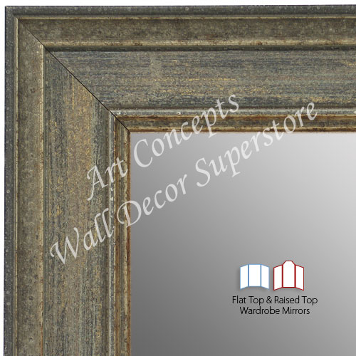 WM1669-1 | Distressed Gray | Custom 3 Panel Wardrobe Mirror