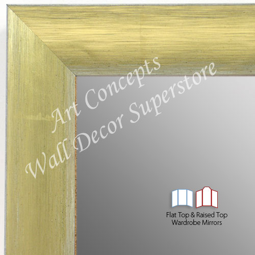 WM1687-1 | Brushed Gold with White | Custom Three Panel Full Length Wardrobe Mirror