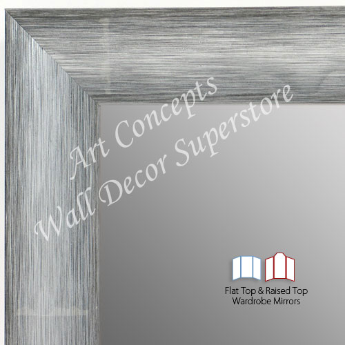 WM1687-2 | Brushed Silver with Black | Custom 3 Panel Dressing Room Mirror