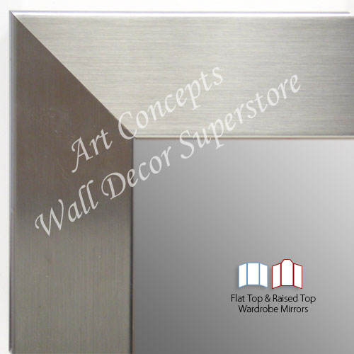 WM1708-4 | Stainless Steel Look - Mica Finish - Moulding | Custom Three Panel Dressing Mirror