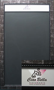 Custom Black Chalk boards with headers
