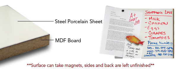 Oversize Magnetic White Dry Erase Material